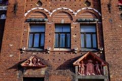 Edificios viejos en Vyborg, Rusia Foto de archivo libre de regalías