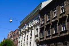 Edificios viejos en Zagreb, Croacia fotografía de archivo