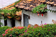 Edificios viejos Puerto Vallarta, México foto de archivo libre de regalías