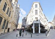 Edificios viejos y nuevos en Bruselas Fotografía de archivo libre de regalías