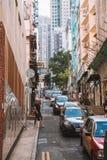 Edificios viejos y nuevos en Hong Kong Fotos de archivo