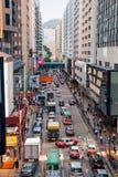 Edificios viejos y nuevos en Hong Kong Foto de archivo