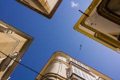 Edificios vistos de debajo Fotos de archivo libres de regalías
