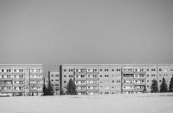 Edificios vivos en blanco y negro Foto de archivo libre de regalías