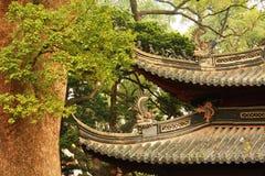 Edificios y árboles antiguos chinos fotos de archivo libres de regalías