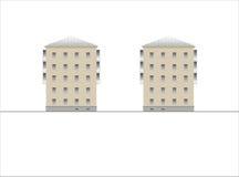 Edificios y estructuras del temprano y de los mediados del siglo XX Imagen de archivo libre de regalías