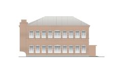 Edificios y estructuras del temprano y de los mediados del siglo XX Imágenes de archivo libres de regalías