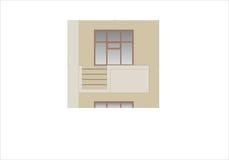Edificios y estructuras del temprano y de los mediados del siglo XX Dibujos de casas de la arquitectura clásica del final de 18-1 Fotos de archivo libres de regalías