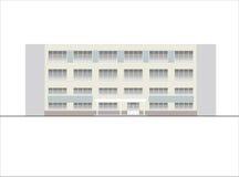 Edificios y estructuras del temprano y de los mediados del siglo XX Dibujos de casas de la arquitectura clásica del final de 18-1 Fotos de archivo