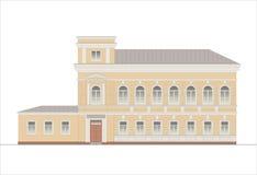 Edificios y estructuras del temprano y de los mediados del siglo XX Dibujos de casas de la arquitectura clásica del final de 18-1 Imágenes de archivo libres de regalías