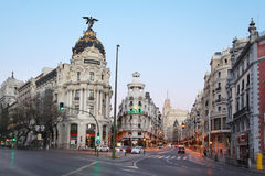 Edifisio Metropolis building on Gran Via street Stock Image