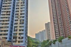 Edilizia popolare in Chai Wan Hong Kong Fotografie Stock Libere da Diritti