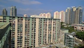 Edilizia popolare di Hong Kong & nuova costruzione fotografia stock libera da diritti