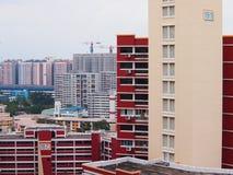 Edilizia popolare a Singapore Immagini Stock