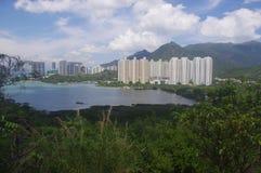 Edilizia popolare in Tung Chung immagine stock libera da diritti