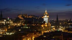 Edimbourg au crépuscule Images libres de droits