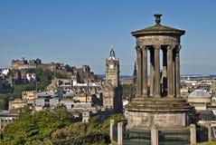 Edimbourg de colline de Calton pendant le matin Photographie stock libre de droits