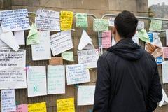 EDIMBOURG, ECOSSE, jour de référendum de l'indépendance d'†BRITANNIQUE «le 18 septembre 2014 - photographie stock libre de droits