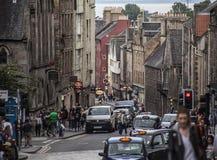 Edimbourg, Ecosse, le BRITANNIQUE - rues de la vieille ville image stock