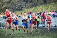 EDIMBOURG, ECOSSE, R-U, le 10 janvier 2015 - compe d'athlètes d'élite Images stock