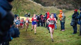 EDIMBOURG, ECOSSE, R-U, le 10 janvier 2015 - compe d'athlètes d'élite Image stock