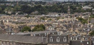 Edimbourg, Ecosse - une vue de colline de Calton - architecture traditionnelle photos stock
