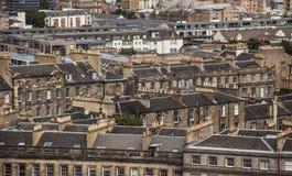 Edimbourg, Ecosse - vieilles maisons images stock