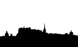 Edimbourg a isolé le vecteur d'horizon illustration stock