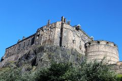 Edimbourg, le château Photographie stock libre de droits