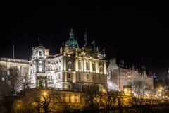 EDIMBOURG, le 24 mars 2018 - vue de nuit de ville d'Edimbourg dans l'Ecossais Images stock