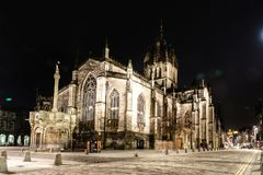 EDIMBOURG, le 24 mars 2018 - vue de nuit de ville d'Edimbourg dans l'Ecossais Images libres de droits