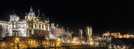 EDIMBOURG, le 24 mars 2018 - vue de nuit de ville d'Edimbourg dans l'Ecossais Photographie stock libre de droits