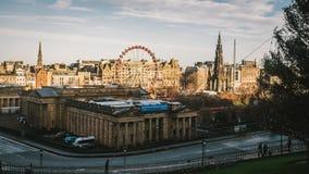 Edimbourg pendant le matin Photos libres de droits