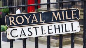 Edimburgh - Royal Mile plate Stock Photography