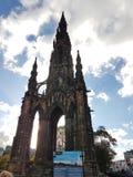 Edimburgo artysty nieba wakacyjna wizyta Obrazy Royalty Free