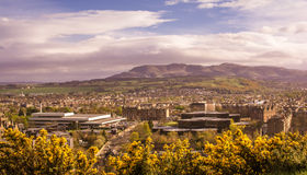 Edimburgo en la alta visión Foto de archivo libre de regalías