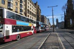 Edimburgo en príncipes Street imagen de archivo