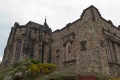 Edimburgo, Escócia - cerca do março de 2013: Uma vista do exterior do castelo de Edimburgo Imagem de Stock