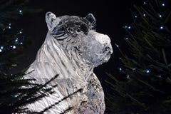 Edimburgo Escócia - quinta-feira 30 novembro de 2017 - esculturas de gelo em George Street - uma viagem através de Escócia congel Imagens de Stock