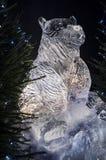 Edimburgo Escócia - quinta-feira 30 novembro de 2017 - esculturas de gelo em George Street - uma viagem através de Escócia congel Fotos de Stock Royalty Free