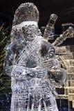 Edimburgo Escócia - quinta-feira 30 novembro de 2017 - esculturas de gelo em George Street - uma viagem através de Escócia congel Foto de Stock