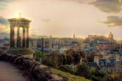 Edimburgo, Escócia, Reino Unido no por do sol Imagem de Stock