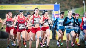 EDIMBURGO, ESCÓCIA, Reino Unido, o 10 de janeiro de 2015 - compe dos atletas de elite Fotografia de Stock