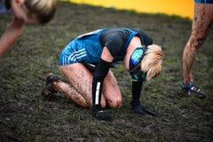 EDIMBURGO, ESCÓCIA, Reino Unido, o 10 de janeiro de 2015 - exhau dos atletas de elite Foto de Stock