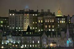 Edimburgo, Escocia, ciudad vieja, edificios medievales Fotografía de archivo