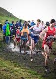EDIMBURGO, ESCOCIA, Reino Unido, el 10 de enero de 2015 - compe de los atletas de élite Imagen de archivo