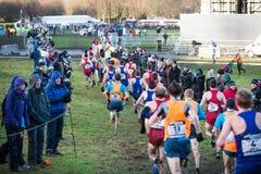 EDIMBURGO, ESCOCIA, Reino Unido, el 10 de enero de 2015 - compe de los atletas de élite Fotografía de archivo libre de regalías