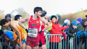 EDIMBURGO, ESCOCIA, Reino Unido, el 10 de enero de 2015 - exhau de los atletas de élite Fotos de archivo libres de regalías