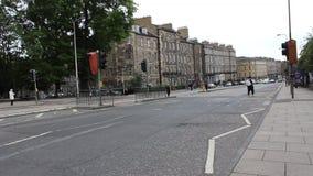 Edimburgo Escocia 2018 Tiempo de la tarde almacen de metraje de vídeo