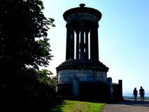 Edimburgo - la Scozia - il monumento sulla collina Fotografia Stock Libera da Diritti